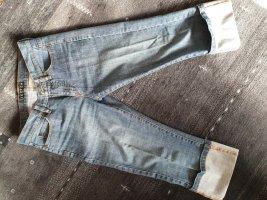 Jette Jeans a 3/4 blu acciaio Cotone