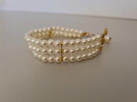 Vintage Bransoletki z perłami złoto-biały