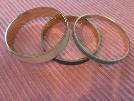3 Goldarmreifen Elie Saab, blau, türkis, weiß