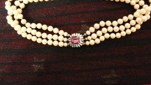 Vintage Collana di perle crema