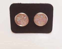 3 stück Glänzende Kristall Ohrstecker in verschiedenen Farben je Stück 2€