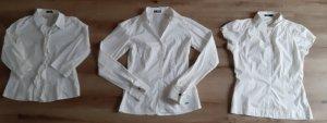 3 weiße Blusen Gr. 34-38