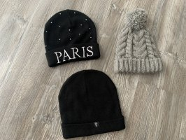 H&M Knitted Hat black-grey