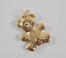 333 Gold anhänger Bär teddy goldanhänger 8k