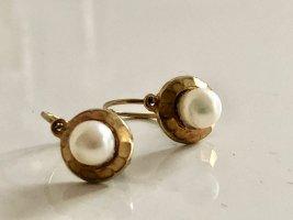 333 Gold Ohrringe Perlen Perlenohringe Goldohrringe Gelbgold Luxus Vintage
