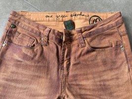 36 S XS ONE GREEN ELEPHANT Hüft Jeans Hose trash orange rot ungetragen