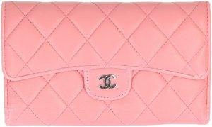 36168 Chanel CC Geldbörse aus Lammleder in Rosa