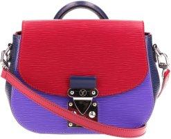Louis Vuitton Bolsa de hombro lila-rojo frambuesa