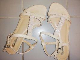 37 Sandalen Sommer Schuhe creme beige Jenny fairy