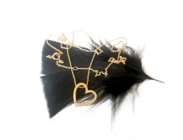 375 Gold + Diamanten Halskette Puristisch Zeitlos Kein 585 750 333