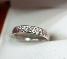 375 Weißgold Ring Goldring Gold Meisterpunze Juwelierstück