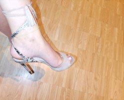 38,5 Schuhe guess creme schwarz beige