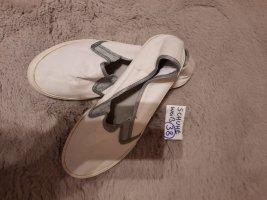 38 Schuhe weiß grau