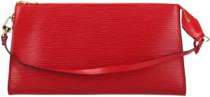 38355 Louis Vuitton Pochette Accessoires aus Epi Leder in Castillian Rot Handtasche, Clutch