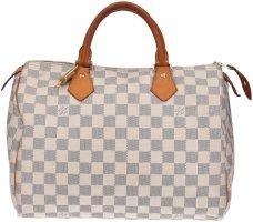 38751 Louis Vuitton Speedy 30 Damier Azur Canvas Tasche - Handtasche