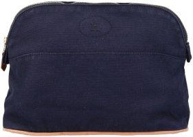 39039 Hermès Bolide Kulturtasche Kosmetiktasche aus Baumwolle mittleres Modell