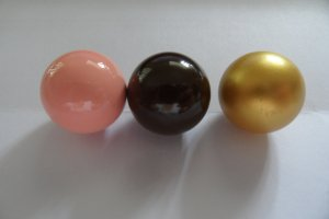 3x Original Schmuck Engelsrufer Klang kugel Rosa, gold , braun Gr. L