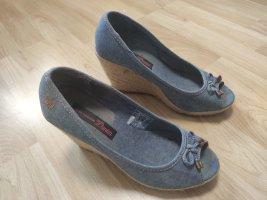 0039 Italy Low boot argenté cuir