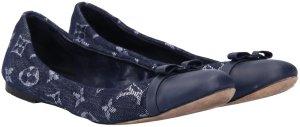 40105 Louis Vuitton Elba Ballerinas aus Monogram Denim in Blau Gr. 38