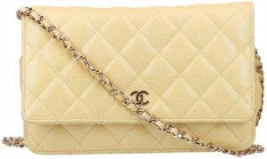 41627 Chanel CC Wallet on Chain Umhängetasche aus Kalbsleder Kollektion 19S in iridescent gelb