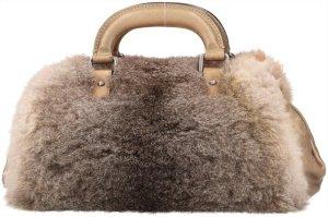 41779 Chanel CC Tasche Handtasche aus geschmeidigem Leder und weichem Fellbesatz