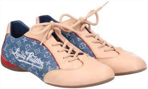 41887 Louis Vuitton Sneaker Schuhe aus Leder und Monogram Denim Canvas Gr. 40,5