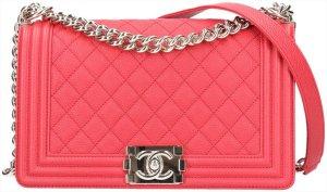 42318 Chanel CC Boy Tasche Handtasche Gr. Medium aus genarbtem Kalbsleder & goldfarbenem Metall mit ID-Karte