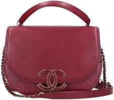 42421 Chanel CC Coco Curve Handtasche - Umhängetasche aus Ziegenleder in Bordeaux