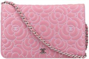 42456 Chanel CC Wallet on Chain Umhängetasche aus Camellia Leder in Rosa