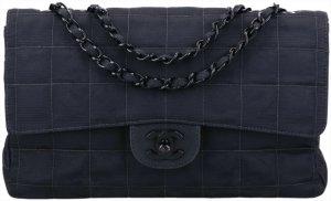 43119 Chanel CC Timeless Flap Tasche Handtasche Gr. Medium aus New Travel Line Nylon in schwarz