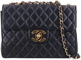 43147 Chanel CC Timeless Flap Handtasche Tasche Gr. Maxi aus Lammleder in schwarz und goldfarbenem Metall