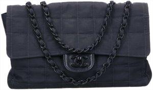 43356 Chanel Timeless Flap Tasche Handtasche Gr. Medium aus New Travel Line Nylon in schwarz