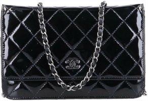 43490 Chanel CC Wallet on Chain Umhängetasche aus Lackleder in schwarz