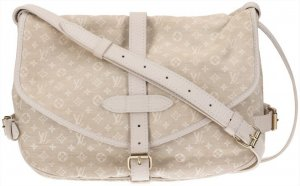 43841 Louis Vuitton Saumur 30 Monogram Mini Lin Canvas Tasche Handtasche in Dune