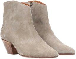 44560 Isabel Marant Stiefel Stiefelette Schuhe Modell Dicker aus Suede Leder in Taupe GR. FR 39
