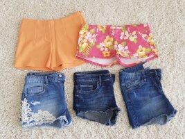 5 Shorts Gr. 34/XS bis 36/S