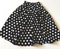 Balonowa spódniczka biały-czarny