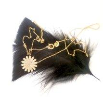 585 Gold Halskette Blume Puristisch funkelnde Steine Kein 333 750
