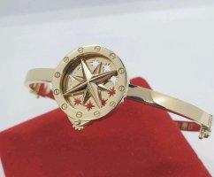 585 Gold innendrehbarem Stern Armspange - NEU