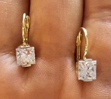Echtgold Złote kolczyki złoto-biały