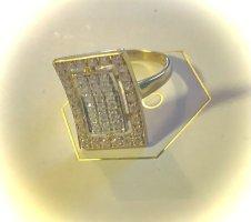 Echtgold Złoty pierścionek złoto