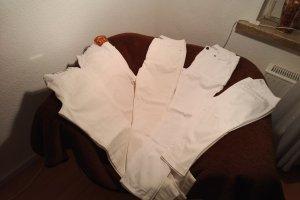 Alba Moda Spodnie ze stretchu biały Bawełna