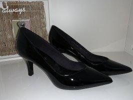 5th Avenue Stiletto noir cuir