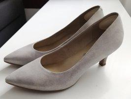 5th Avenue Stiletto argenté-gris clair cuir
