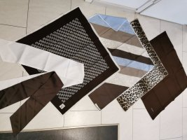 6 Halstücher Schals Marken braun Beige