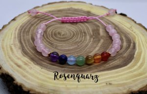 7 Chakra Armband handmade aus Edelsteinen