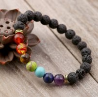 Bransoletki z perłami czarny-złoto