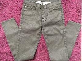 7 For all Mankind fam - neue Jeans Skinny glänzend metallic wie Leder