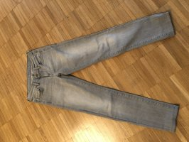 7 For All Mankind Jeans skinny gris clair