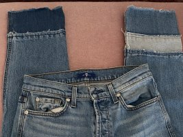 7 For All Mankind Stretch jeans azuur-staalblauw